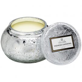 EMBOSSED GLASS CHAWAN BOWL CANDLE - YASHIOKA GARDENIA