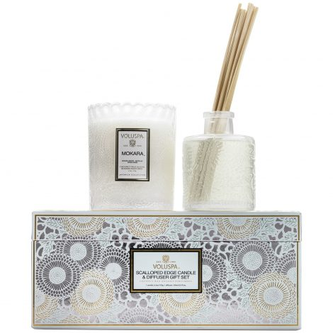 Scalloped Edge Candle & Diffuser Gift