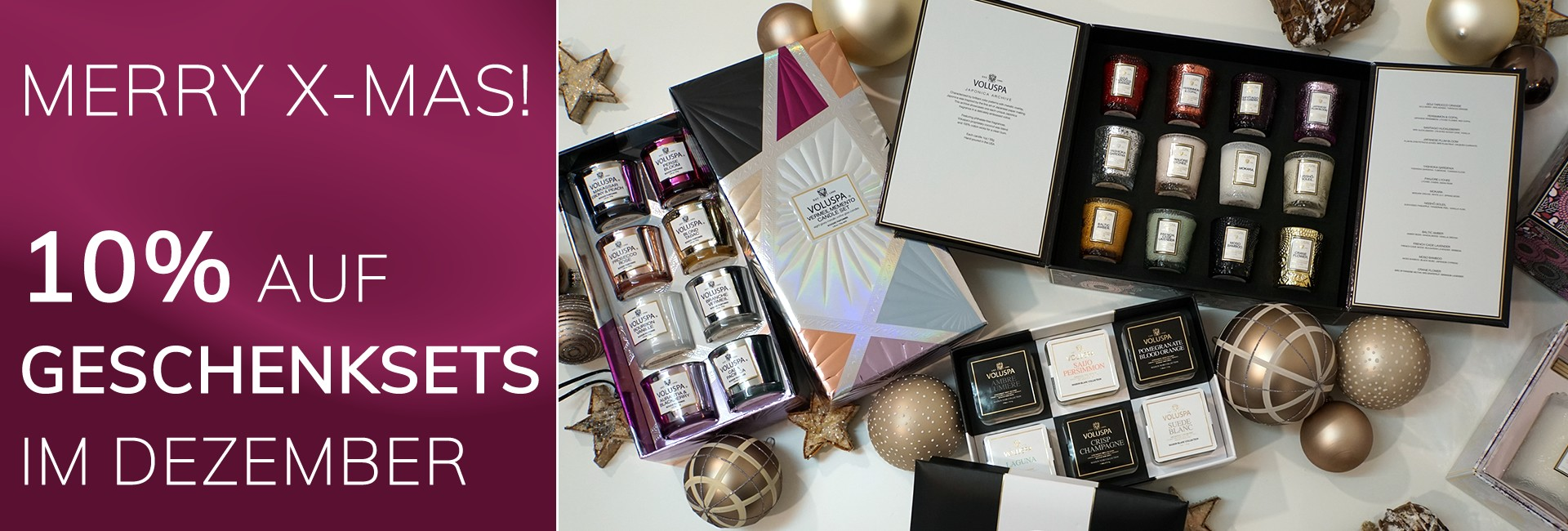 MERRY X-MAS! 10% ON ALL GIFT SETS IN DECEMBER